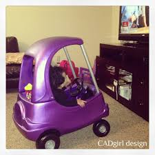 purple glitter car cadgirl design pimped out cozy coupe