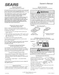 Craftsman Garage Door Openers Troubleshooting by Sears Garage Door Opener 139 53859 User Guide Manualsonline Com