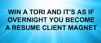 resume writing helps toast of the resume industry awards tori