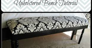 Monkey Bench Lipstick And Sawdust Damask Upholstered Bench