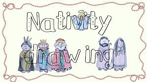 simple nativity drawing easy tutorial for christmas youtube