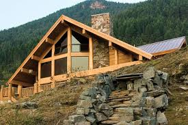 Timber Frame Cottage by Montana Log And Timber Frame Homes By Precisioncraft