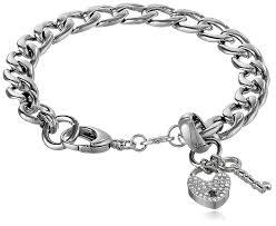 bracelet fossil steel images Fossil charm starter bracelet jewelry jpg