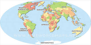 Blank Continents Map by Download Free World Maps