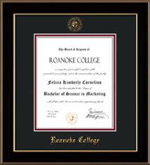 diploma frame roanoke college bookstore diploma frames