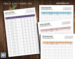Wholesale Price Sheet Template Wholesale Price Sheet Stationery Templates Creative Market