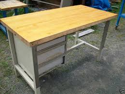 work table with drawers industrial butcher block work table with