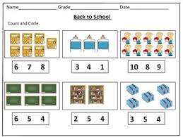 back to counting worksheets 1 20 by kids u0027 learning basket