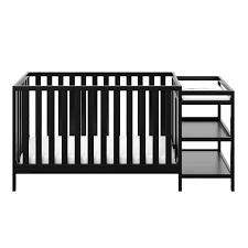 Black Convertible Crib Storkcraft Pacific 4 In 1 Convertible Crib And Changer Black