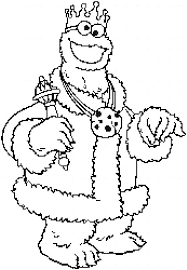 king cookie monster coloring pages coloringstar