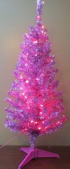 75 6 retro look pink tinsel tree feather tree