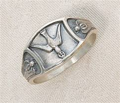 confirmation gifts for boys sterling silver holy spirit ring sizes 5 10 holy spirit
