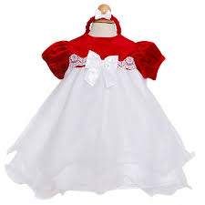 Rare Editions Red Velour Baby Doll Christmas Dress Baby Girls 324M