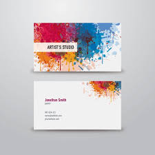 Classic Name Card Design Artist Business Card Graphic Available In Eps Vector Format