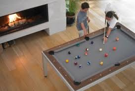 It Slices It Dices Fusion DiningPool Table Combo  TreeHugger - Combination pool table dining room table