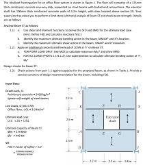 Floor Framing Plan The Idealised Framing Plan For An Office Floor Sys Chegg Com