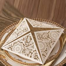 laser cut wedding invitations kits ivory flowers party invitation