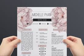Resume Template For Latex Floral Cv Template Resume Template By Chic Templates