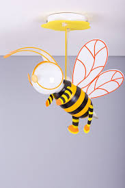 stylish bumble bee design kids bedroom light in orange from