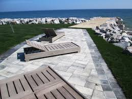 Unilock Patio Designs by Grow Rite Design Unilock Paver Patio Using Umbriano Block In The