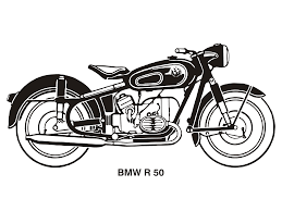 bmw vintage motorcycle motorcycle clipart