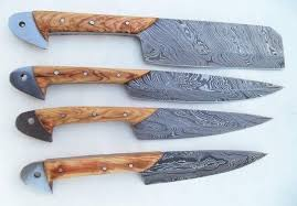 steel kitchen knives custom handmade twist damascus steel kitchen knives set kbs