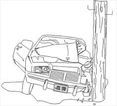 car crash black and white clipart clip art library