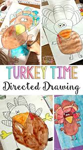 turkey thanksgiving directed drawing craft activities