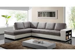 canap d angle vente unique canapé d angle tissu et simili noir ou blanc randy