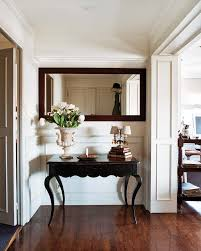 Foyer Console Table And Mirror Millwork Moulding Wainscoting For My Future Home