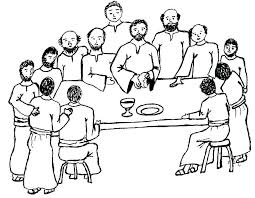 Last Supper Coloring Pages The Page Home Vonsurroquen Me Last Supper Coloring Page