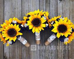 bouquet of sunflowers sunflower bouquet etsy
