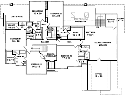 650 Square Feet by Plan 6 Beds 4 Baths 7700 Sq Ft Plan 81 650 Upper Floor Plan 6