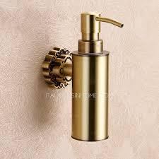 wall mounted bronze bathroom liquid soap dispensers