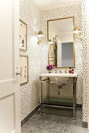 Small Powder Room Sinks by Small Powder Room With Wallpaper And Console Sink Wallpaper For