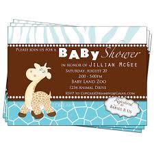 baby shower invitations giraffe theme 19086