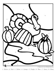 thanksgiving turkey color number woo jr kids activities