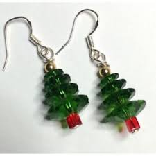 tree earrings made with swarovski elements