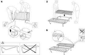 IKEA Chairs LYCKSELE FRAME SOFABED PDF Assembly Instruction Free - Sofa bed assembly