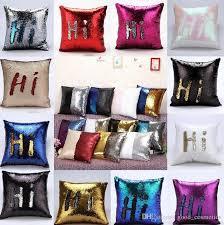 23 design sequin mermaid pillow case cover reversible sofa cushion
