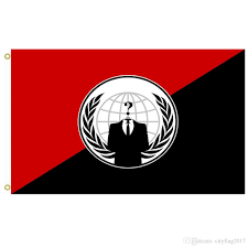 Red White Black Flag 2018 Anonymous Anarchist Alternative Flag Anonymous Flag Football
