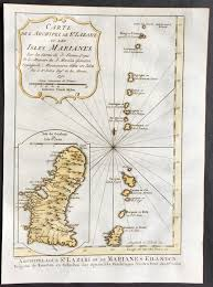 Map Of Guam 1752 Bellin Antique Map Of The Marianas Islands U0026 The Island Of