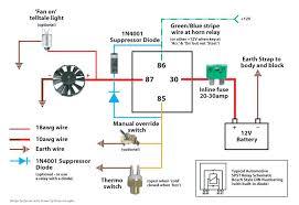 electric fan relay wiring diagram electric fan directions