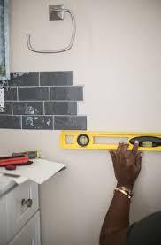 stick on tile backsplash transform your bathroom with peel and stick backsplash tiles