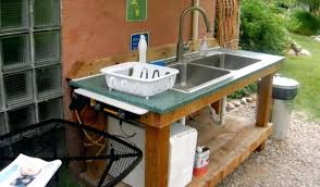 Garden Sink Ideas Outdoor Sink Cabinet Meetly Co