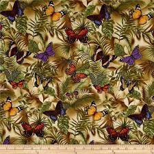 timeless treasures rain butterfly neutral discount designer