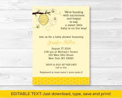bumble bee invitations baby shower free party invitation bee baby