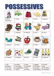 88 free esl possessives worksheets