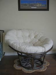 decorating rattan papasan chair with white papasan chair cushion