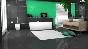 3d Bathroom Floors by 3d Bathroom With Toilet And Shower In The Yellow Tile Stock Photo